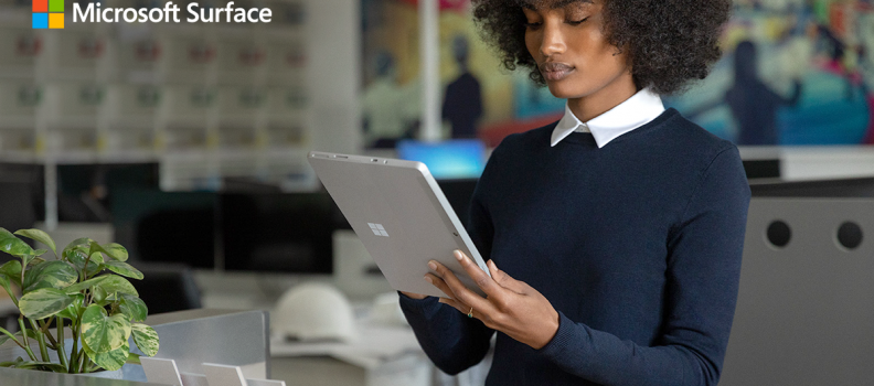 Microsoft Surface enables teamwork anywhere