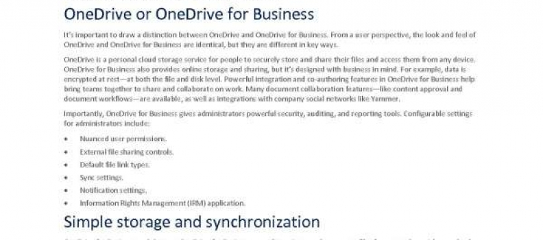 Microsoft increases productivity and protects assets with OneDrive for Business