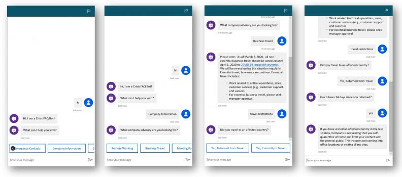 Building a Crisis FAQ bot using Power Virtual Agents