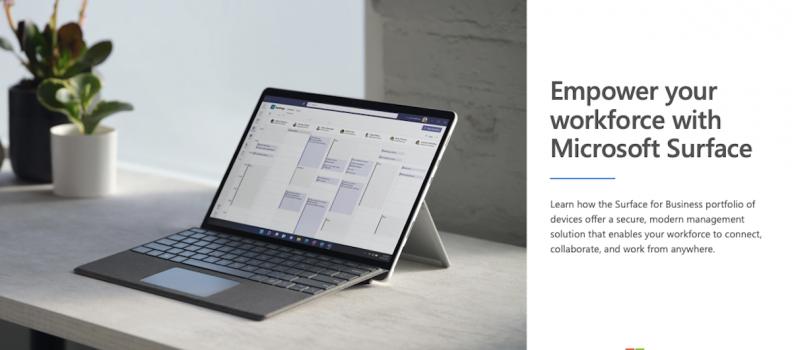Explore the diverse portfolio of Surface devices