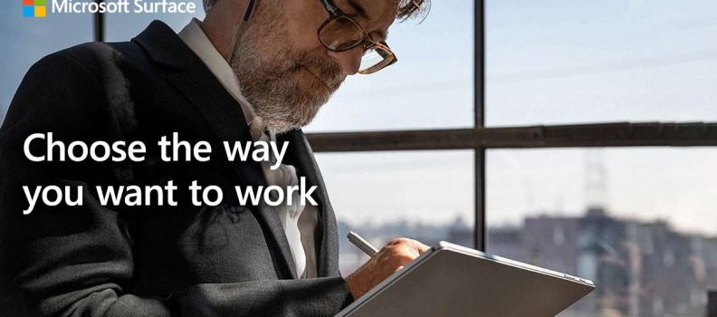 Choose the way you want to work with Microsoft Surface