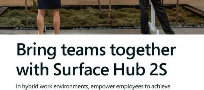 Bring teams together with Microsoft Surface Hub 2S