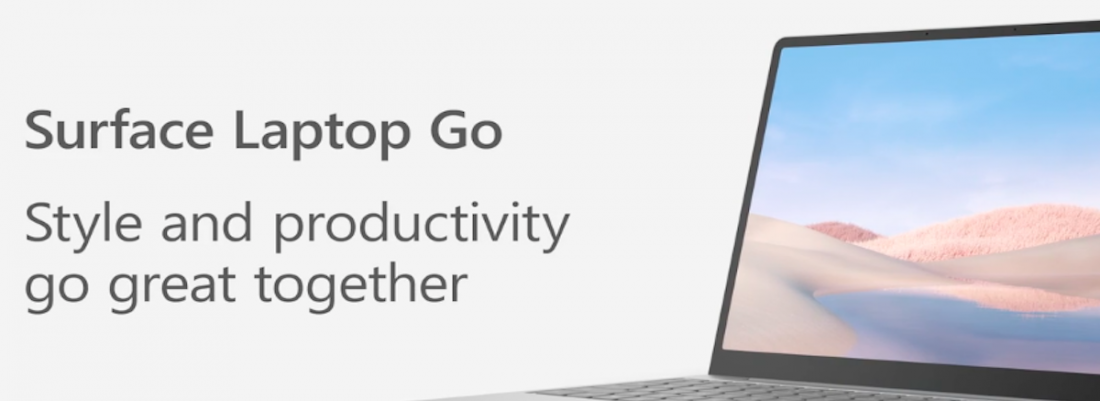 Style and productivity go great together with Surface Laptop Go